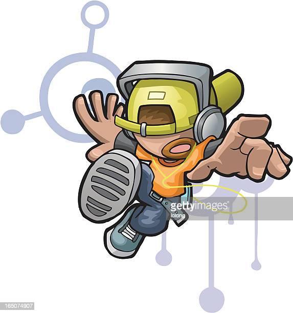 ilustrações de stock, clip art, desenhos animados e ícones de eu amo a música - hip hop