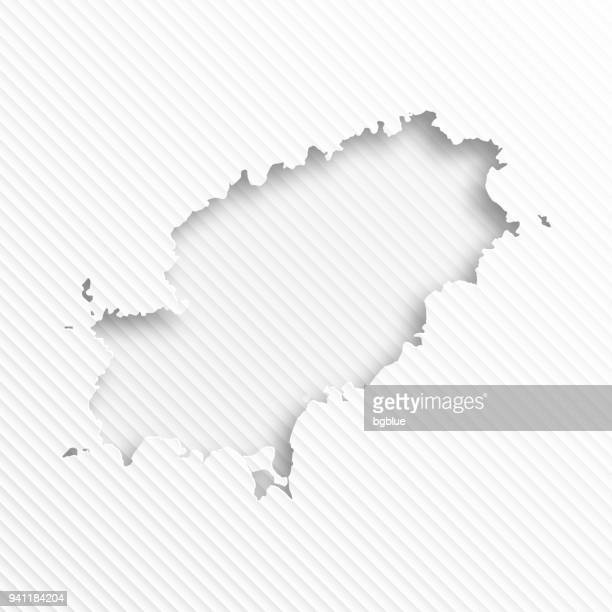 ibiza map with paper cut on abstract white background - ibiza island stock illustrations