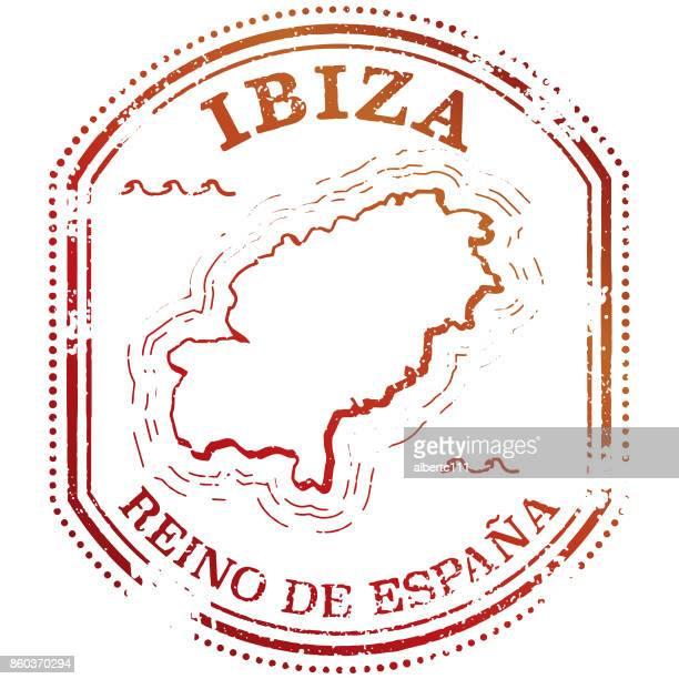 ibiza travel stamp - ibiza island stock illustrations