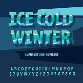Ice alphabet and numbers