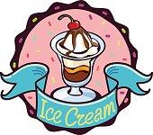 Ice Cream and cherry