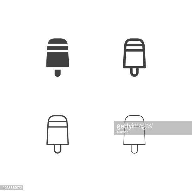 ice cream bar icons - multi series - frozen yogurt stock illustrations, clip art, cartoons, & icons