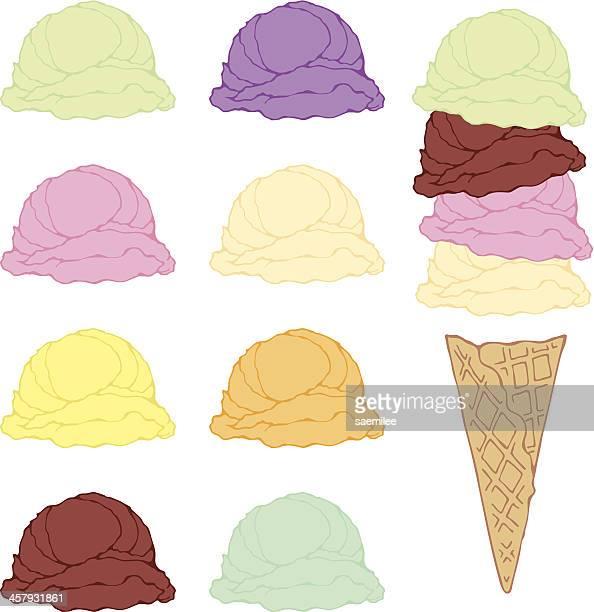 Ice cream cone set