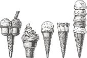 Ice cream cones collection