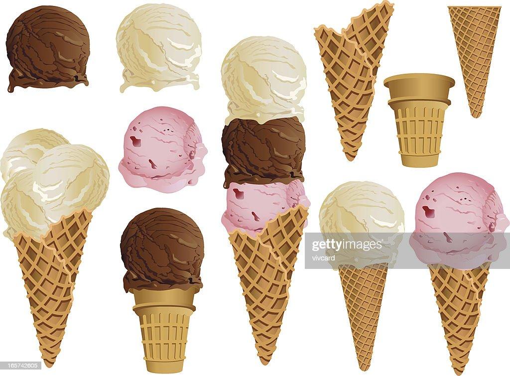 Ice Cream Cones : stock illustration