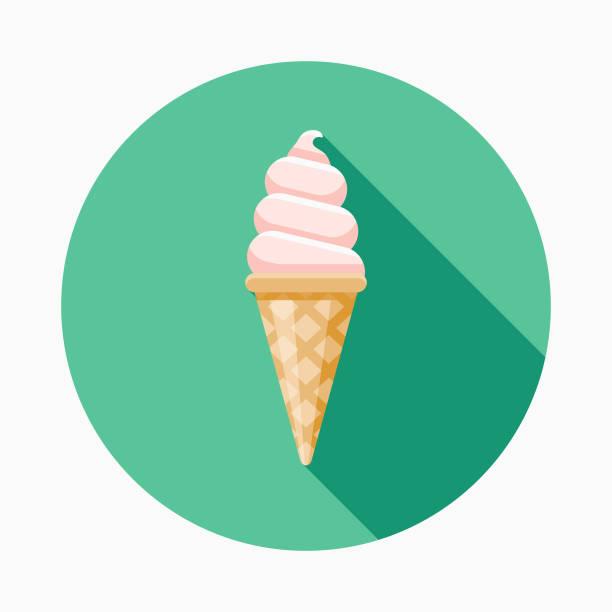 ice cream flat design fast food icon - ice cream stock illustrations