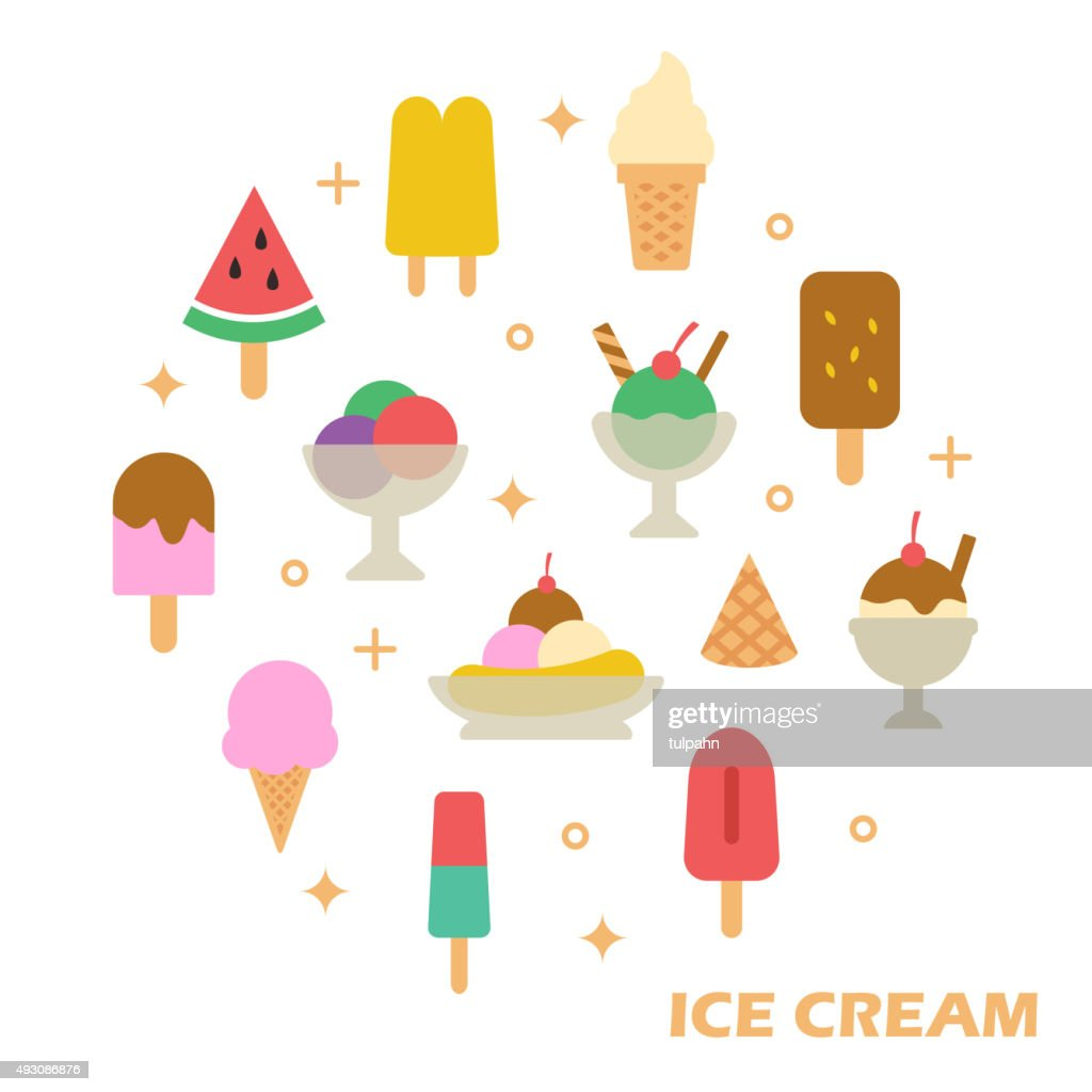 ice cream flat design
