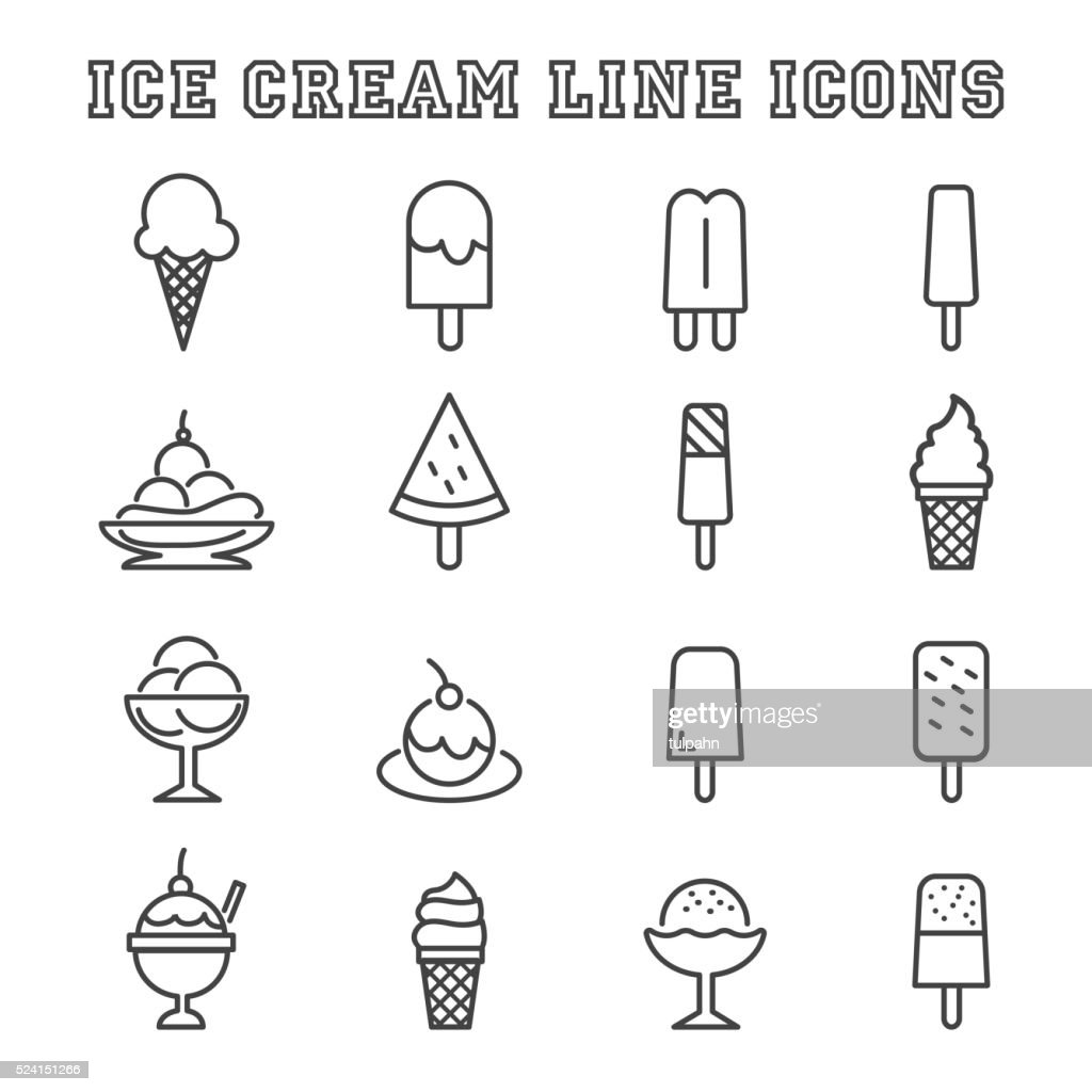 ice cream line icons
