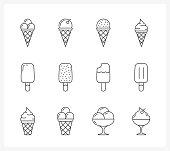 Ice Cream Line Icons