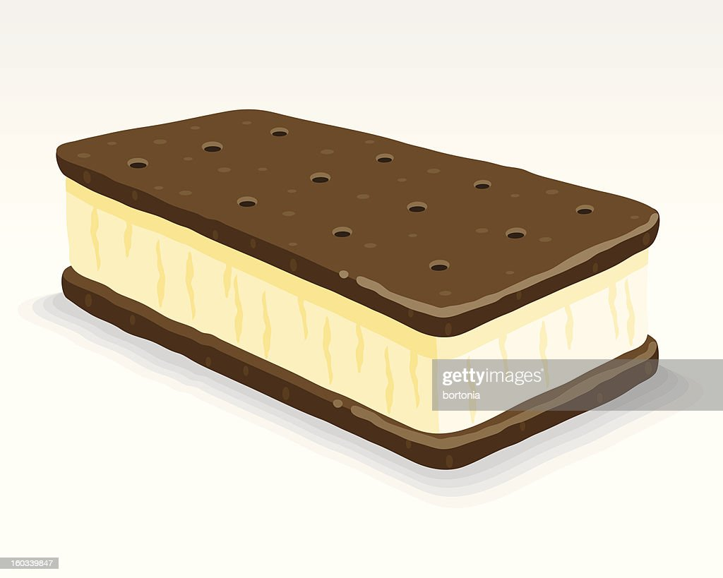 Ice Cream Sandwich : stock illustration