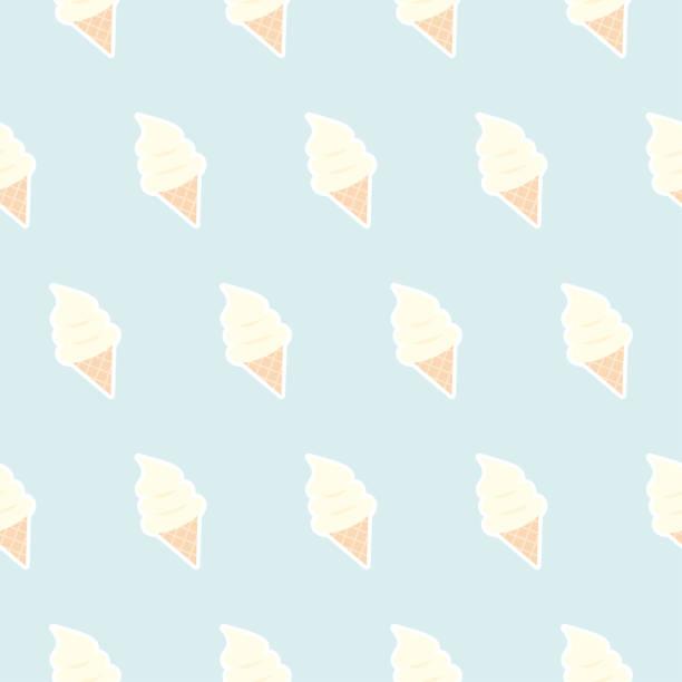 ice cream seamless pattern - ice cream stock illustrations