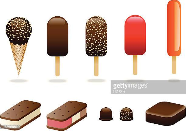 ice cream variety pack - flavored ice stock illustrations, clip art, cartoons, & icons