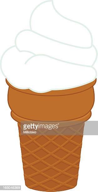 ice cream - frozen yogurt stock illustrations, clip art, cartoons, & icons