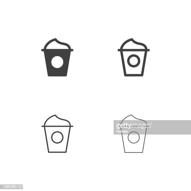 ice cream yogurt icons - multi series - frozen yogurt stock illustrations, clip art, cartoons, & icons