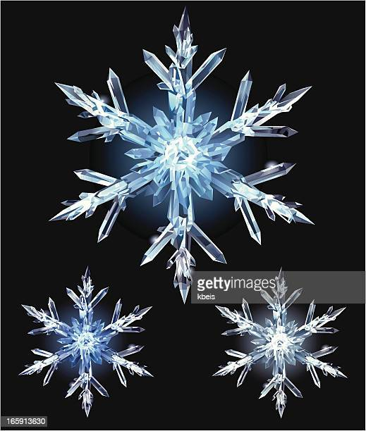 ice crystal - crystal stock illustrations