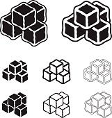 ice cube black symbols