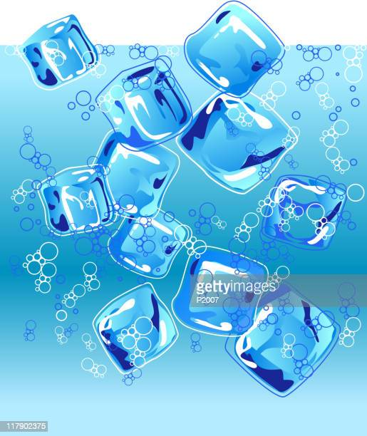 Ice Cubes and Water Bubbly