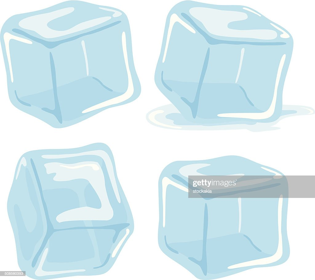 Ice cubes : Vector Art