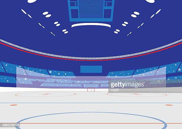 ice hockey arena - hockey stock illustrations, clip art, cartoons, & icons