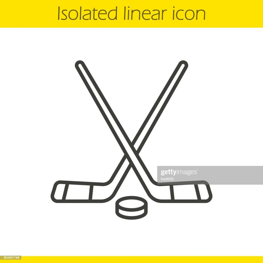 Ice hockey equipment icon