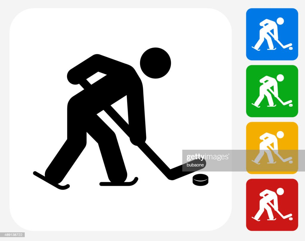 Ice Hockey Icon Flat Graphic Design