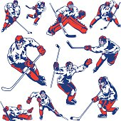 Ice Hockey Player Set