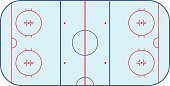 Ice hockey rink field playing infographics, flat, app