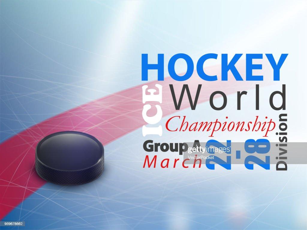 Ice hockey world championship vector banner