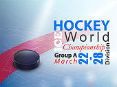 Ice hockey world championship vector banner