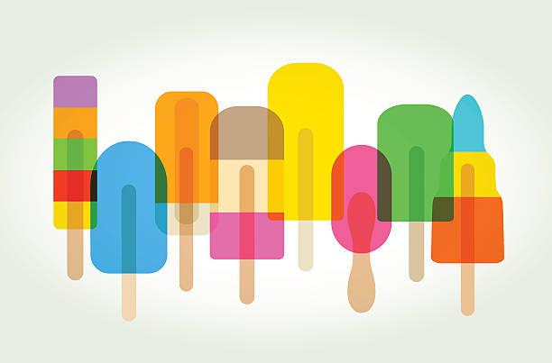ice lollies or popsicles - ice cream stock illustrations