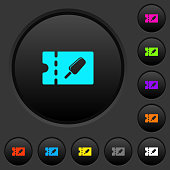 Ice lolly discount coupon dark push buttons with color icons