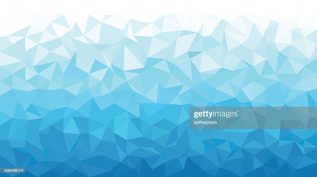 Ice Polygonal Mosaic Background 16:9