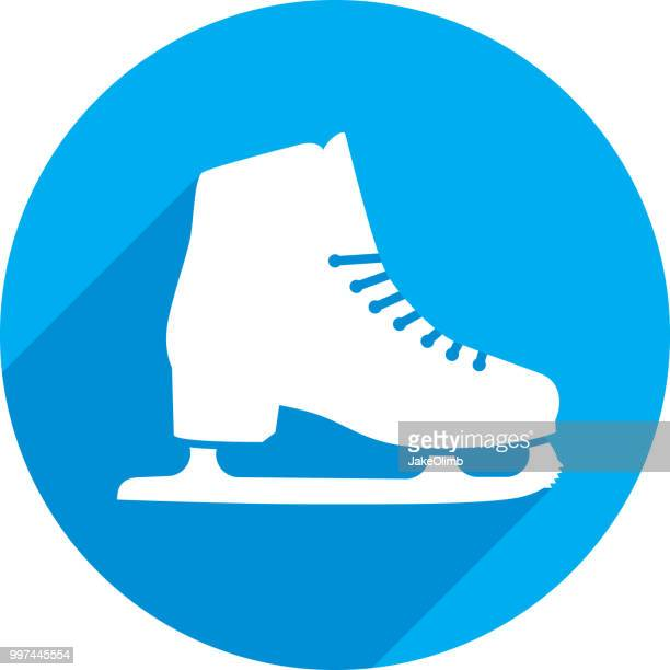 ice skate icon silhouette - figure skating stock illustrations