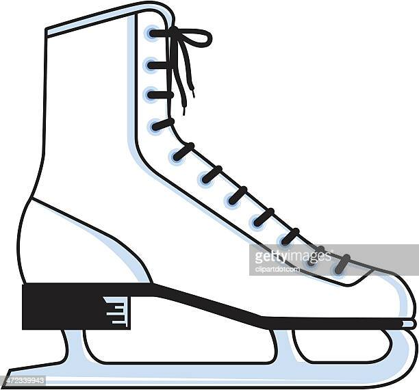 ice skate - ice skate stock illustrations, clip art, cartoons, & icons