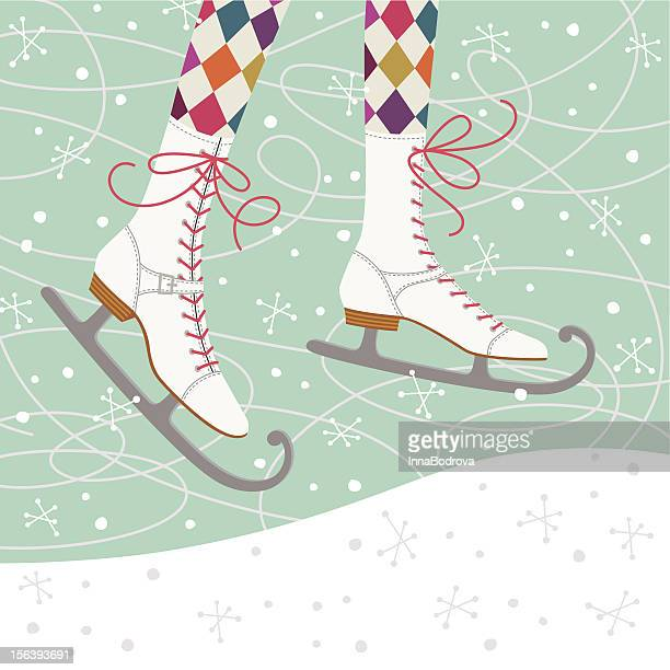 ice skates - ice skate stock illustrations, clip art, cartoons, & icons