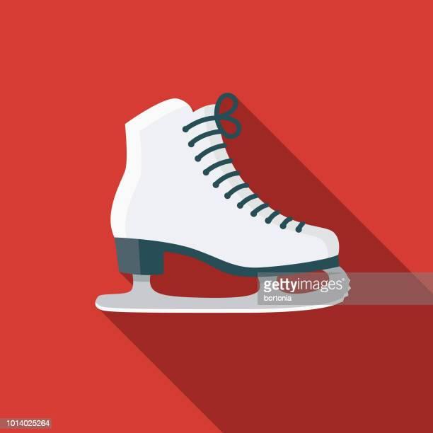 ice skating flat design russia icon - ice skate stock illustrations