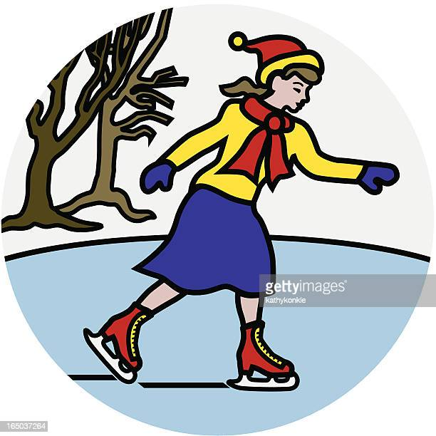 ice skating icon - ice skate stock illustrations, clip art, cartoons, & icons