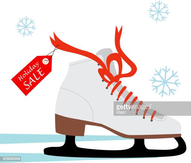ice skating shoe - ice skate stock illustrations, clip art, cartoons, & icons