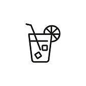 Ice tea line icon