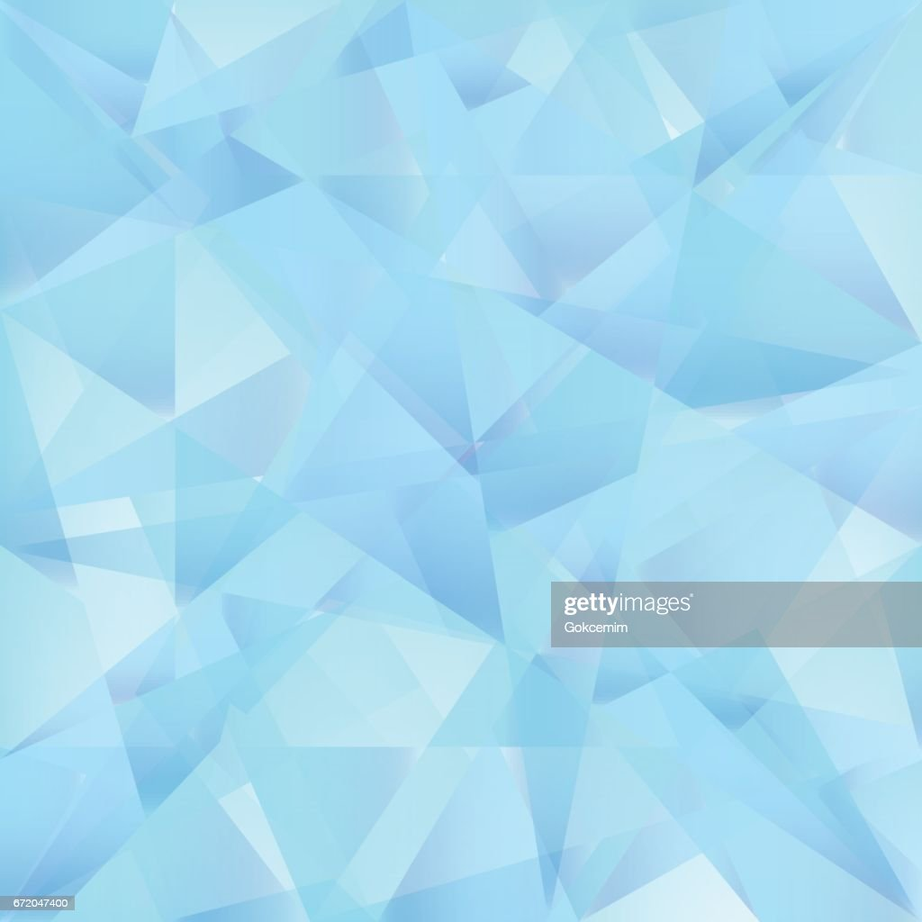 Iceberg Blue Abstract Triangle Vector Background.