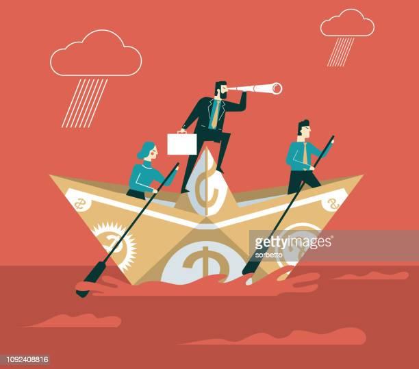 iceberg - businessman people - crisis stock illustrations