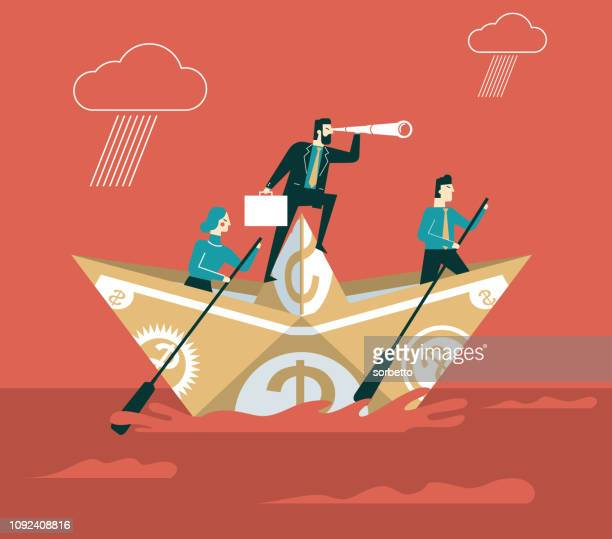 iceberg - businessman people - fortune telling stock illustrations