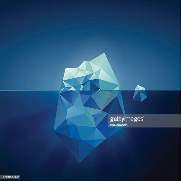 illustrazioni stock, clip art, cartoni animati e icone di tendenza di iceberg illustrazione - iceberg