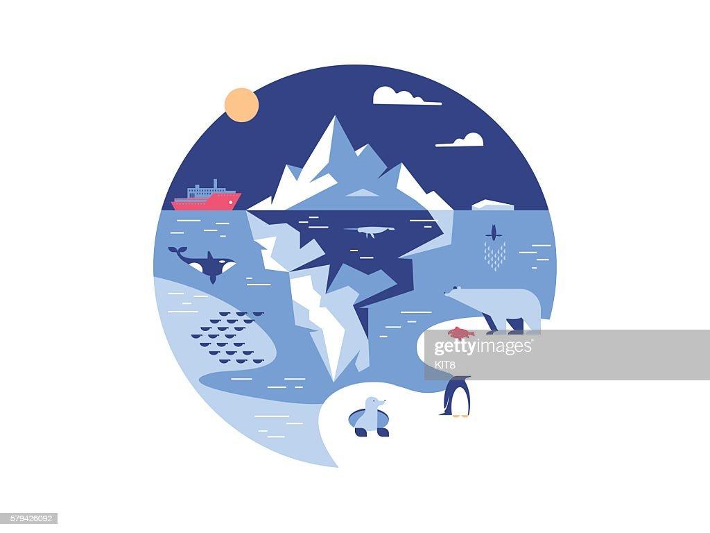 Iceberg in sea or ocean