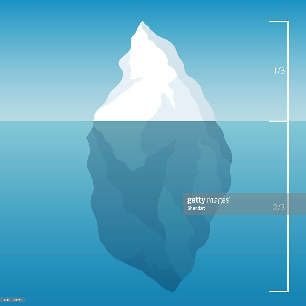 iceberg in the North Sea. illustration background