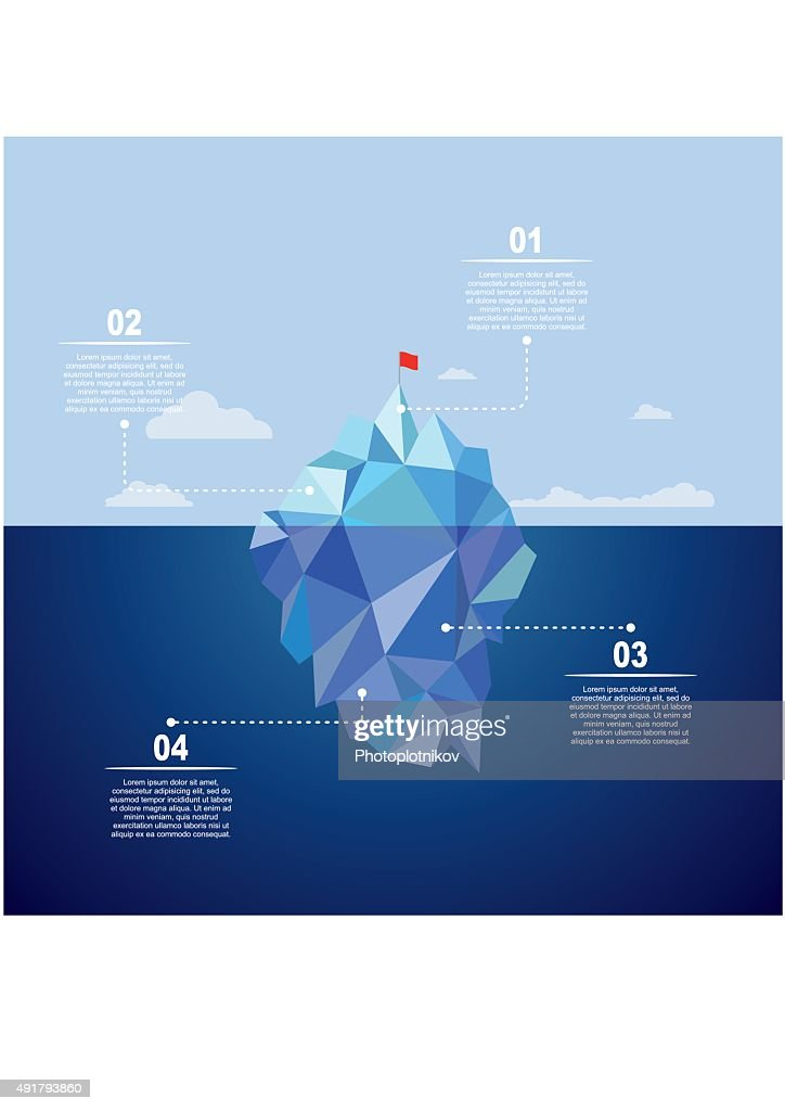 Iceberg infographic template. Vector illustration.