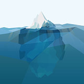 Iceberg polygonal background.