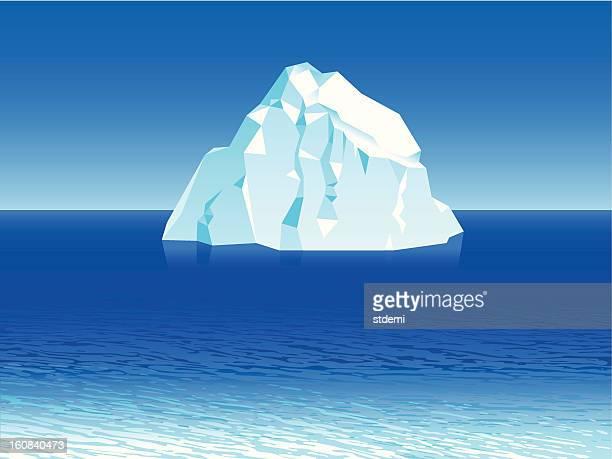iceberg - iceberg ice formation stock illustrations