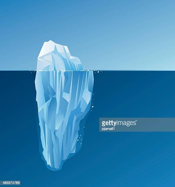 illustrazioni stock, clip art, cartoni animati e icone di tendenza di iceberg - iceberg