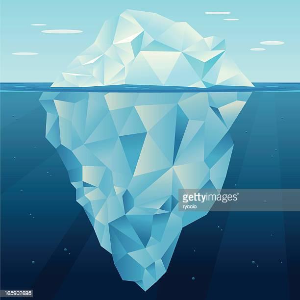 illustrazioni stock, clip art, cartoni animati e icone di tendenza di iceberg vettore - iceberg